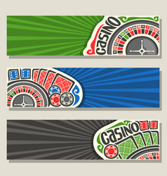 gamble banners for casino vector image