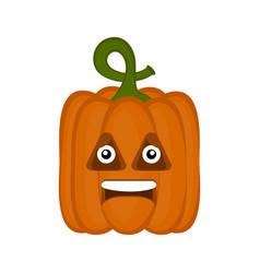 happy halloween pumpkin cartoon character vector image