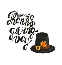 happy thanksgiving banner sign vector image
