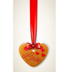 happy valentines day heart cookie vector image