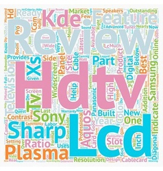 Hdtv reviews2 1 text background wordcloud concept vector