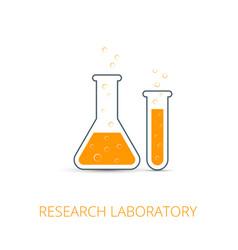 hemistry icon of icon beaker vector image