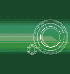 Hi-tech background in green color vector