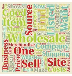 How to Find Wholesale Sources text background vector