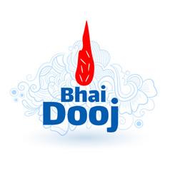 Indian bhai dooj festival tilak background card vector
