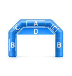 Inflatable arch inflatable archway template vector