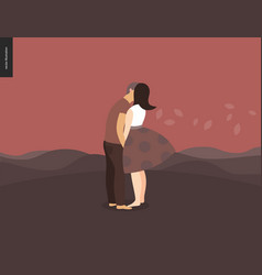 Kissing scene composition vector