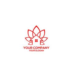Lotus home logo design stock vector