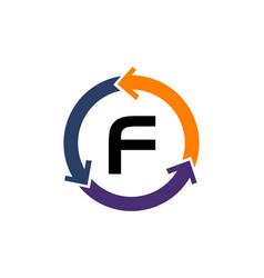 management process letter f vector image