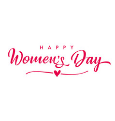 March 8 happy womens day elegant calligraphy banne vector