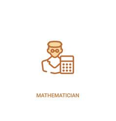 Mathematician concept 2 colored icon simple line vector