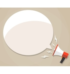 megaphone with white bubble vector image