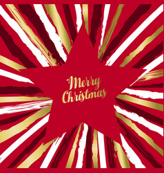 merry christmas luxury star shape greeting card vector image