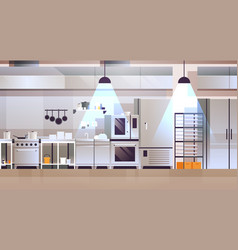 Modern interior professional cafe or restaurant vector
