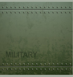 Old military armor texture with rivets metal vector