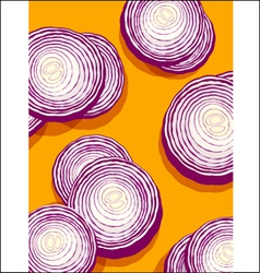 Onions on orange vector