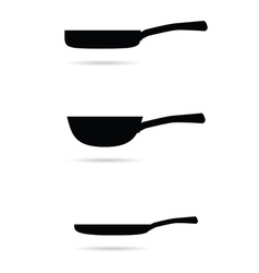pan for cooking set vector image