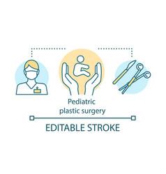 Pediatric plastic surgery concept icon improve vector