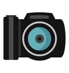 Photocamera icon flat style vector image