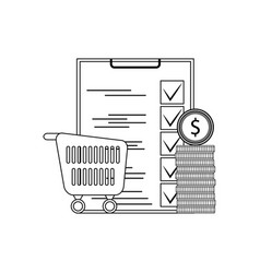 planning purchase supermarket vector image