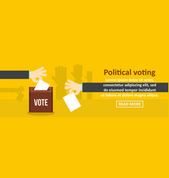 Political voting banner horizontal concept vector