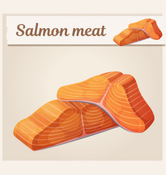salmon meat icon cartoon vector image