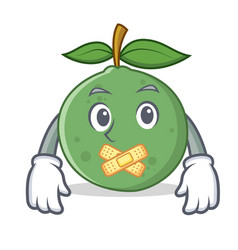 Silent guava mascot cartoon style vector