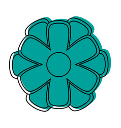 Simple cartoon flower icon image vector