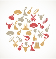Spain icons vector image