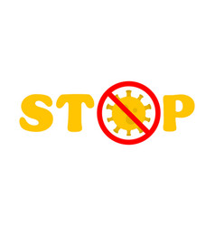 stop virus text virus outbreak protection against vector image