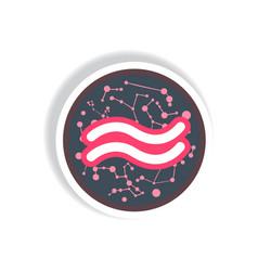 Stylish icon in paper sticker style zodiac vector