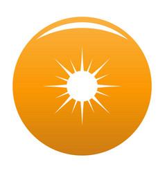 sun icon orange vector image