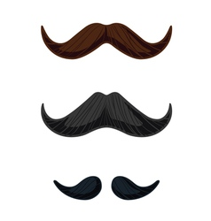 Three english style mustaches vector