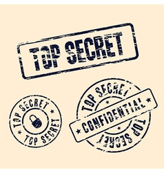top secret stamp set vector image