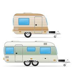 Trailer caravan 03 vector