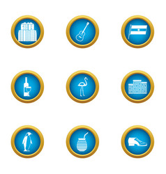 Urban area icons set flat style vector