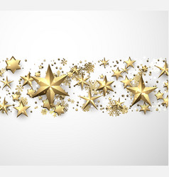 winter background with stars and snowflakes vector image