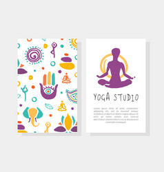 yoga studio business card template with front vector image