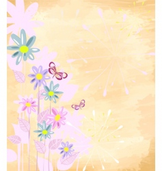 floral pattern with daisies vector image