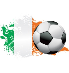Ivory Coast Soccer Grunge vector image vector image