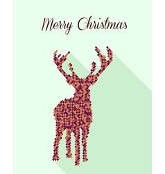 Merry Christmas geometric abstract reindeer vector image vector image