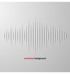Paper sound waveform with shadow vector image vector image
