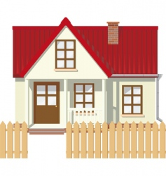 rural house vector image