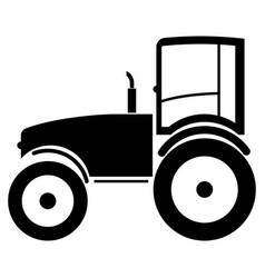 tractor the black color icon vector image