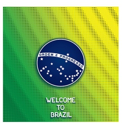 Bright background welcome to Brazil vector image