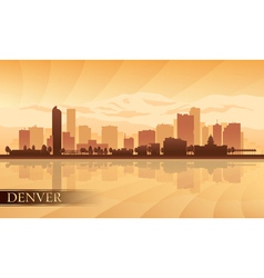 Denver city skyline silhouette background vector image vector image