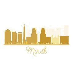 Minsk City skyline golden silhouette vector image vector image