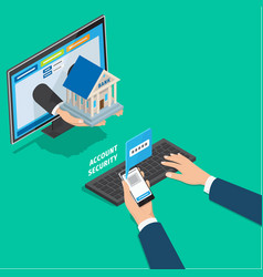 online banking service account security concept vector image