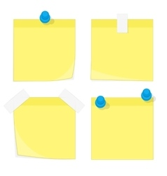 Paper stickers and notes vector image