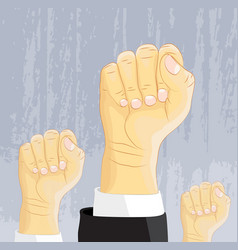 power and freedom expression fist vector image